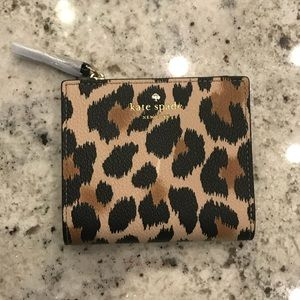 [Kate Spade] Hyde Lane Adalyn Leopard Print wallet